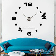 3D DIY Acrylic Style Wall Clock Set Quartz Clocks Geometric Needle Single Face