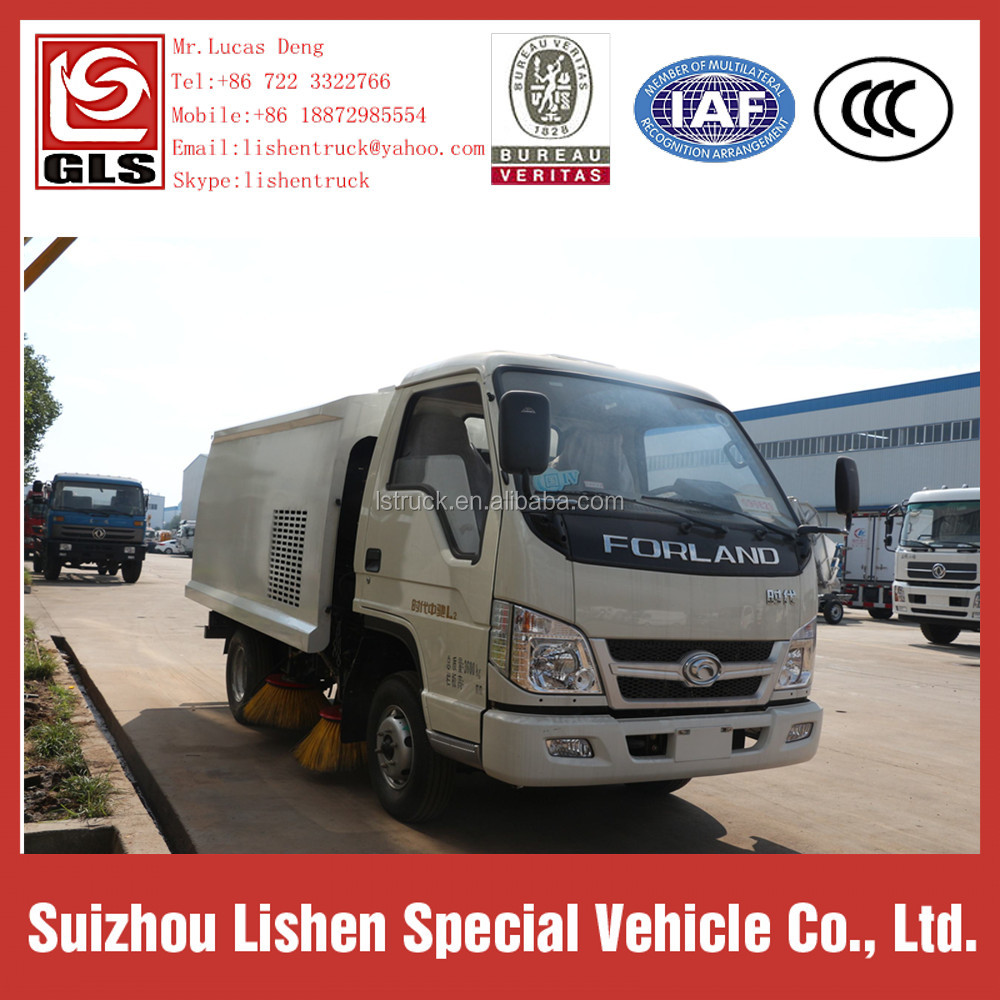 Manual Transmission Type and Diesel Engine Euro 3 Road Cleaning 4*2 Road Sweeper Truck Wholesale Price