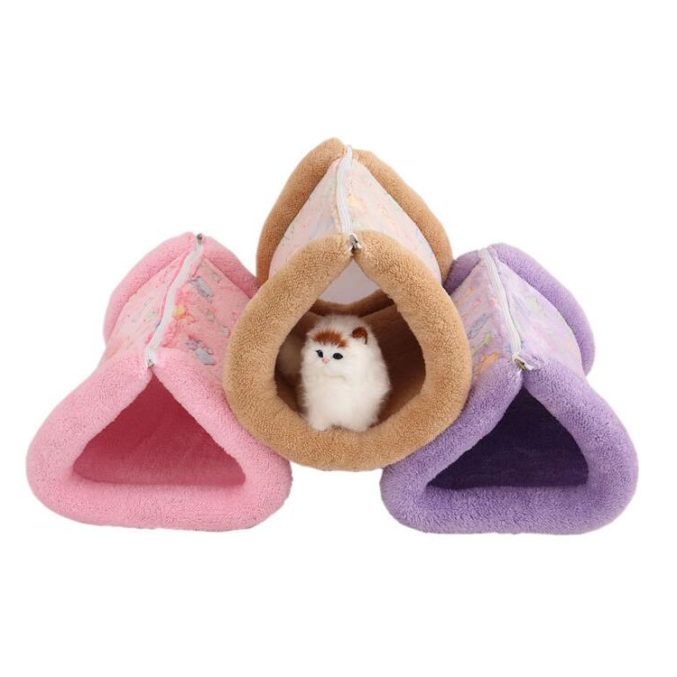 Dog Cat Puppy Bed Sleeping 2 in 1 Tube Mat Bag Warm Home Houses Cushion Pet Supplies