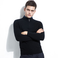 2019 new arrival cool boys 1/4 zip body fit winter soft cashmere acrylic blend pullover man sweater