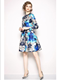 2019 Fashion China Polyester Dress Vestidos Casuales Women Manufacturer Made Floral Print Midi Dress For Woman