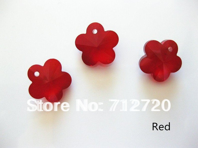 6744 Crystal Plum Flower Beads  14mm Light Blue / red / blue / purple / yellow / pink Free Shipping  72Pcs/lot