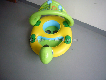 Summer Inflatable Turtle Toddler Baby Float Seat Water With Sunshade