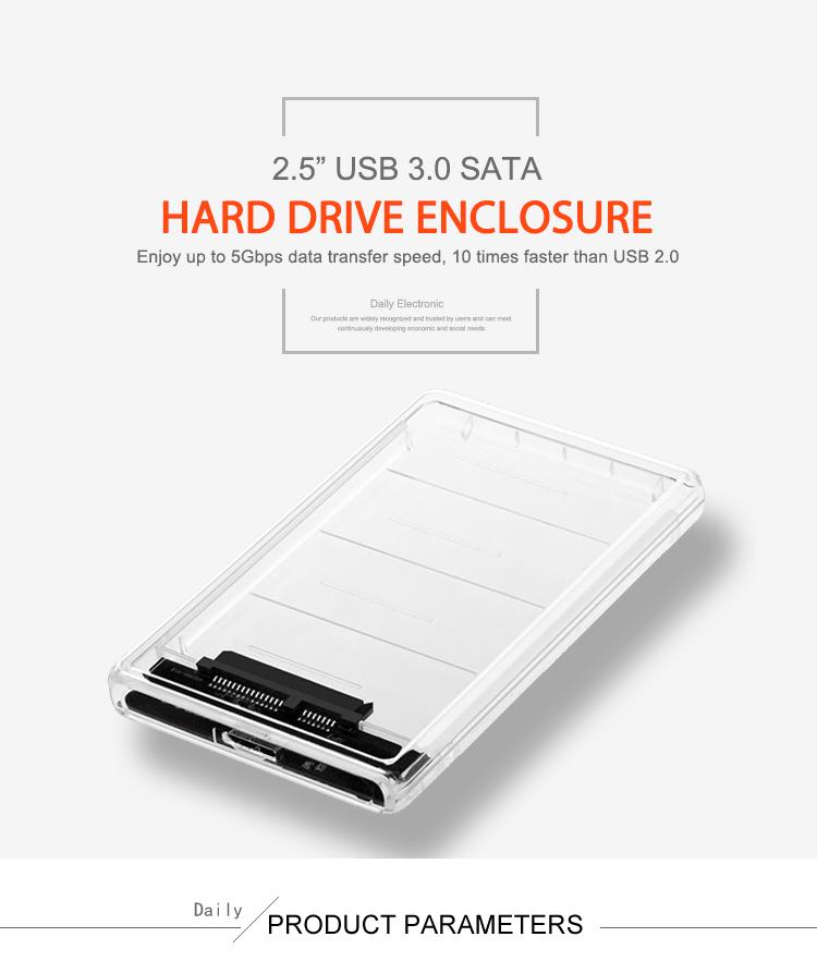 """Fornitore di 2.5 """"Hard Disk Custodia In Plastica Custodia In Plastica"""