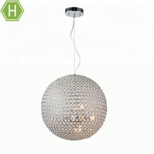 Modern Decoration Glass Ball Chrome G9 Chandelier Crystal Hanging Pendant Lights