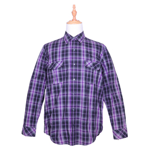Oemtailor high quality plaid shirt men's cheap plaid flannel shirts