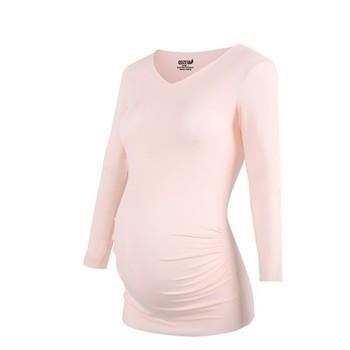 b421f4842c039 Wholesale Plain Blank Cotton Spandex Single Jersey Long Sleeve Women Maternity  T Shirt