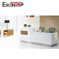 2 person mobile retail standard size information furniture l shaped counter reception desk