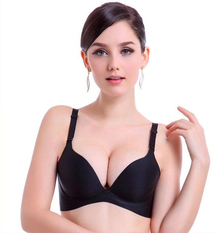 Women Sexy Double Push Up Bras One-piece Seamless Bra Women Push Up Bra Invisible Sexy Bras For Women Plus Size For Girls Hot