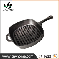 New Coming Design 2017 Cast iron BBQ Cooking Grill Pan