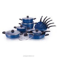 forged aluminum 18pcs set marble coating cookware set