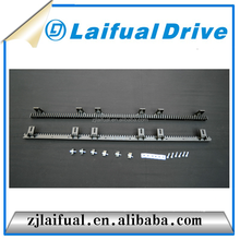 Automatic door fitting nylon toothed gear rack