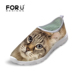 New Style MOQ 1 Fashion Cute Animal Dogs Cats Custom Accept High Quality Ladies Casual Mesh Shoes for Women Wholesale from China