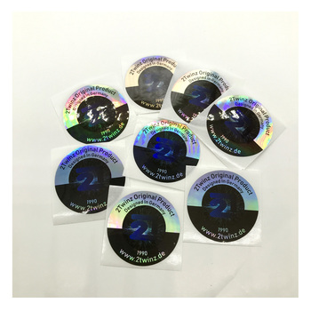 Customized printed adhesive round hologram sticker label