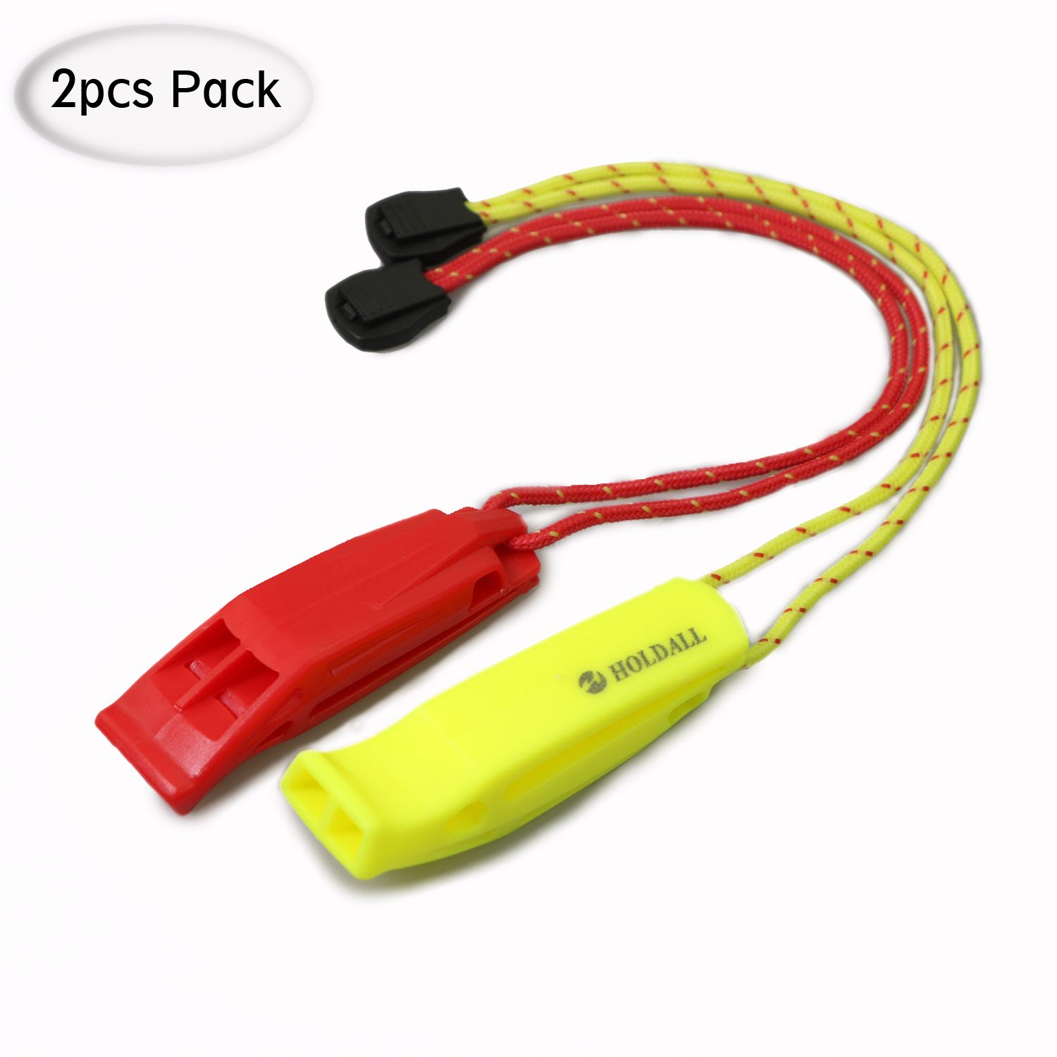 HOLDALL Emergency Safety Whistle with Lanyard for Boating Hiking Kayak Life Vest Survival Rescue Signaling.