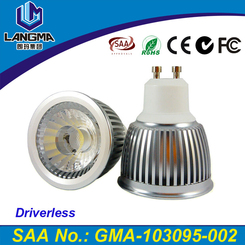 Durable high brightness input voltage 110V-240V led 6w ce rohs <strong>spotlight</strong> gu10 E27 for indoor