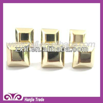 Decorative Gold Square Round Flat Base Studs for Bags