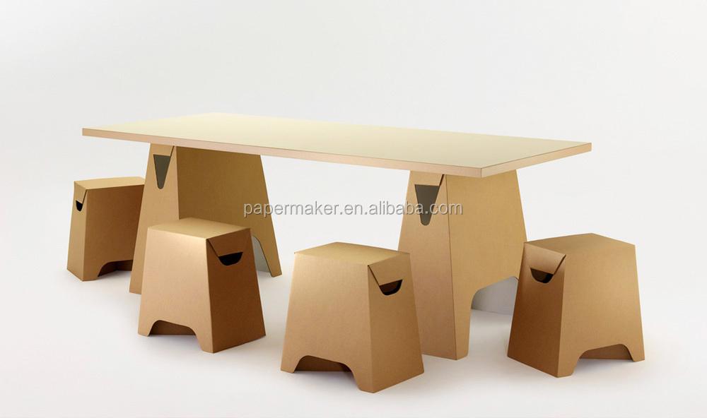 Corrugated Cardboard Furniture Foldable Eco Friendly