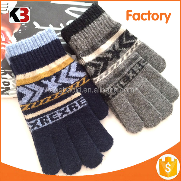 2017 Popular Christmas gift touch screen knit gloves
