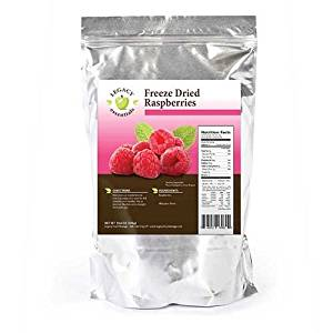 Legacy Essentials Freeze Dried Raspberries - 15 Year Shelf Life for Emergency Survival Food Storage Supply - Great Fruit Snack (Quantity 1)