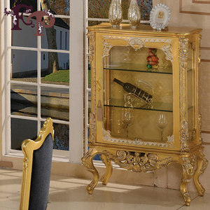 Italian furniture-antique reproduction french furniture- golden foil royalty classic cellaret-italian french antique furniture