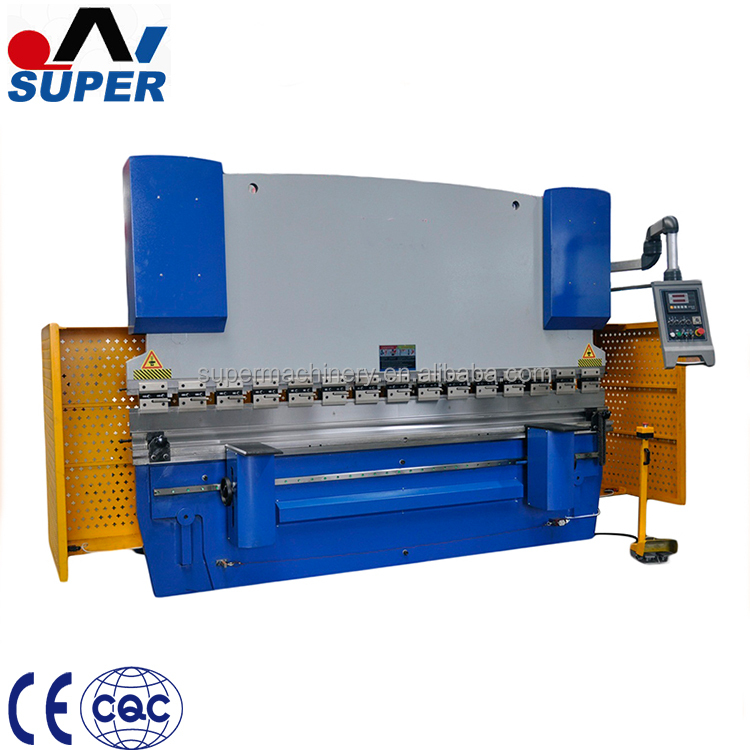 WC67Y-300/6000 CNC Control Hydraulic Metal Sheet Manual Press Brake Machine