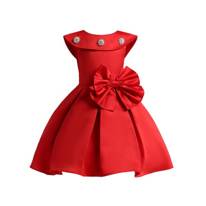 summer baby girl princess party dresses ready made kids clothing chiffon dress toddler Birthday evening bow gown Children frock
