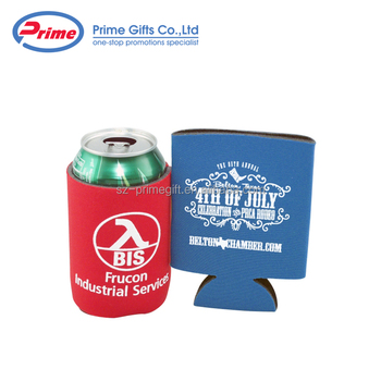 Promotional Cheap Custom Logo Printed Neoprene Can Cooler