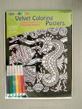 Velvet Coloring Poster Environment Day For Kids - Buy Velvet ...