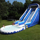 ZZPL Blue Inflatable Garden Water Slide for Rental, Inflatable Backyard Slide for Kids