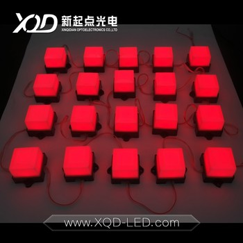 3d christmas light poi point light led ws2811ucs1903 square size pixel point source leds