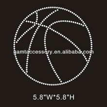 bling heat transfers rhinestone applique basketball