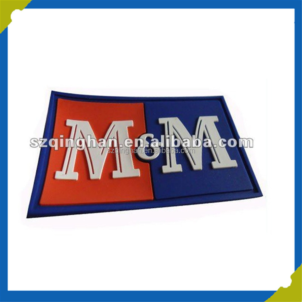 Wholesale Customized Garment 3D Soft Labels PVC Patch Embossed Vulcanizing Rubber Patch