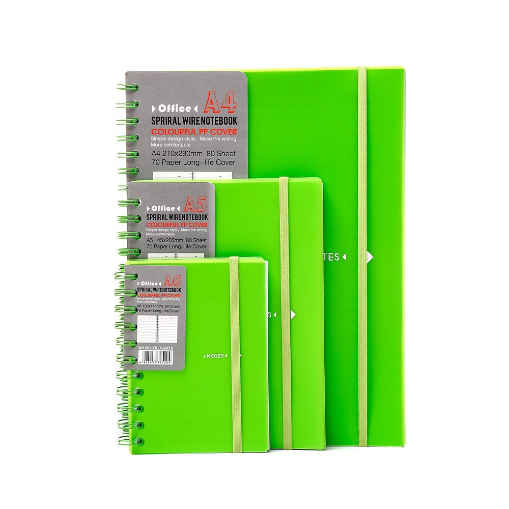 china diary colorful plastic cover a4 size notebook with elastic closure