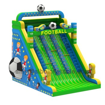 2017 Hot sale inflatable football game inflatable bouncy slide for adults inflatable soccer games