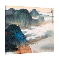Plum blossom scenery mountains and rivers landscape chinese canvas painting for living room home hotel house Wall Decoration