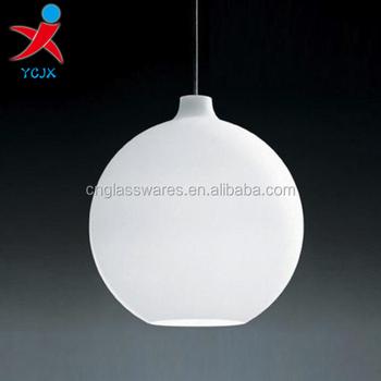 Round Ball Pendant Lamp/white Glass Ball Pendant Light