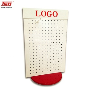 free standing rotating pegboard display stand for accessories,peg hook counter display,display rack for hanging items