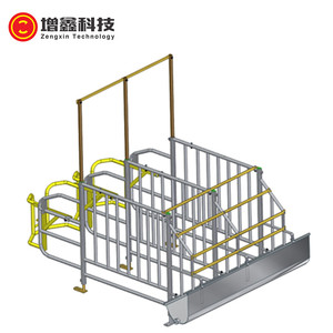 factory high quality sow / pig / hog hot dip galvanized gestation stall used in pig farm equipment