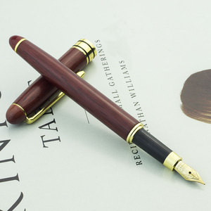 High end custom luxury wood bamboo fountain pen set for calligraphy gift