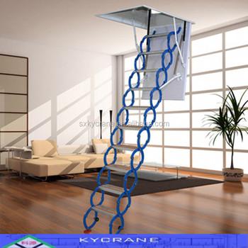 Automatic Steel Telescope Indoor Attic Ladder