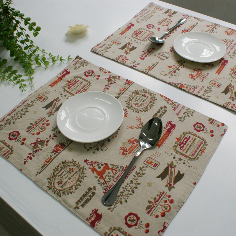 aliexpress  buy christmas placemat dining table mat