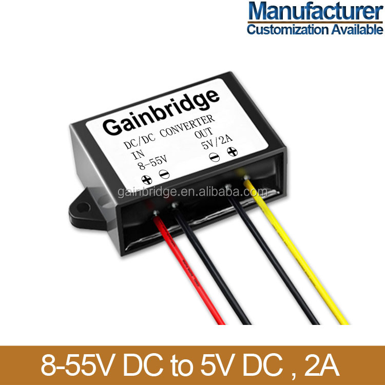 8-55V DC to 5V DC Converter power adapter, 2A/3A, Manufacturer, Customization available
