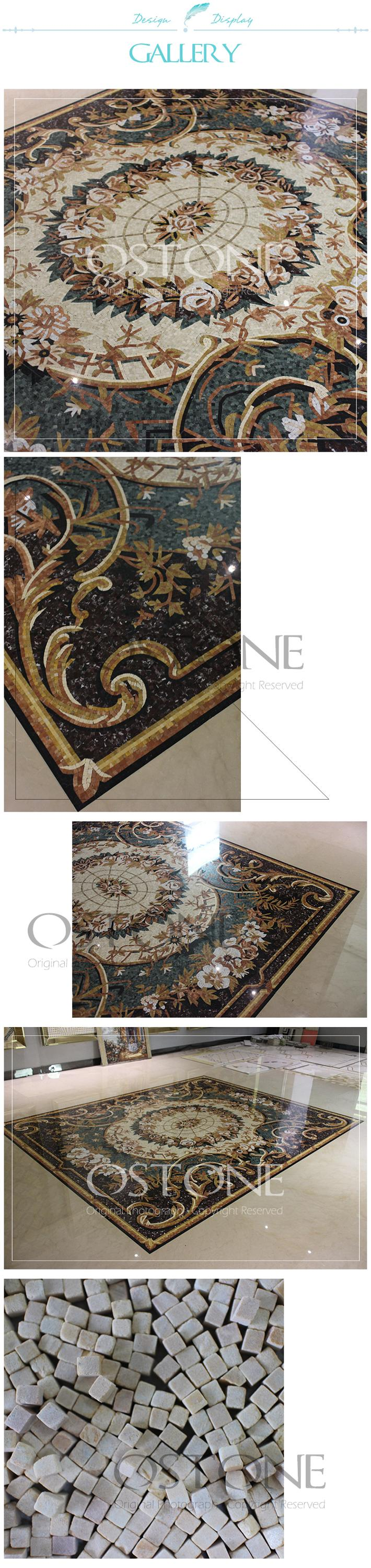Attractive design flower carpet pattern marble mosaic decorative attractive design flower carpet pattern marble mosaic decorative floor tile medallions dailygadgetfo Choice Image