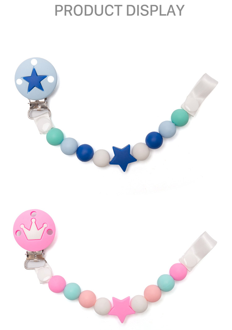 Durable Funny Silicone pacifier Chain & Pacifier Clip teething