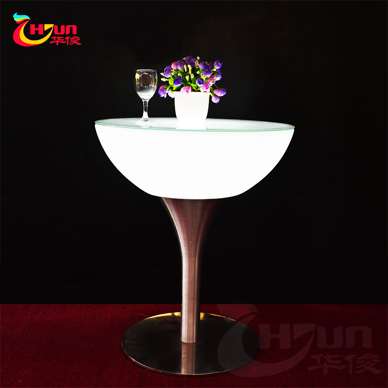 Moderne meubles de discothèque éclairé LED bar table table de cocktail LED pour bar, café