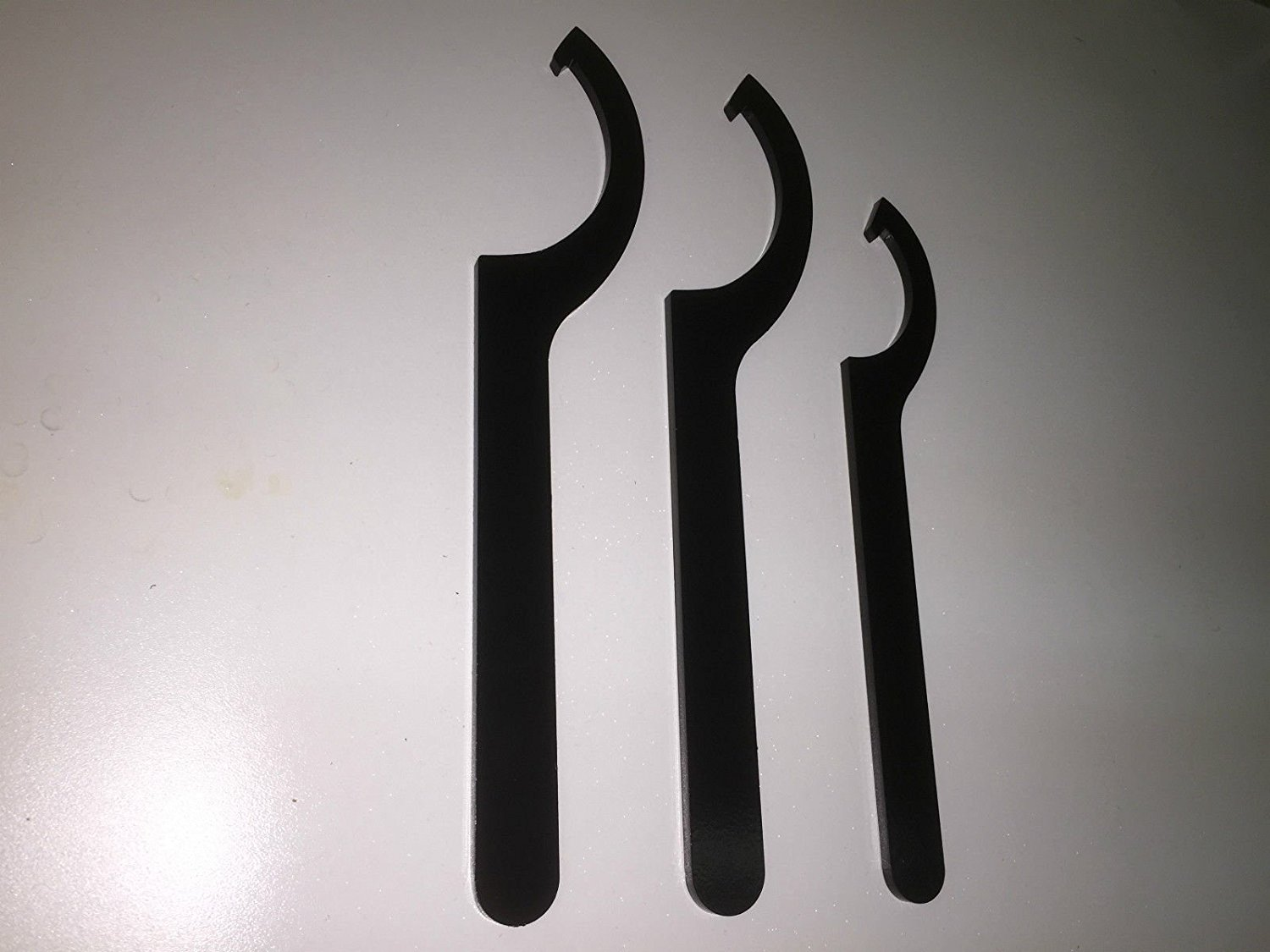 STEEL SPANNER TOOL WRENCH WRENCHES COILOVER ADJUSTMENT (SET OF 3) POWDER COATED