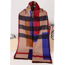 Super Soft and Warm Fashionable Designer Luxury Scottish Thick Winter Cashmere Plaid Long Scarf