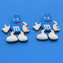 chocolate brand m&m's soft pvc rubber magnet blue & white