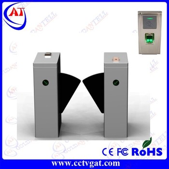 Stainless Steel Full-auto Access Control Flap Barrier,RFID&Fingerprint Access Control Flap Turnstile